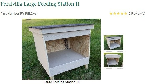 FeralVilla Large Feeding Station